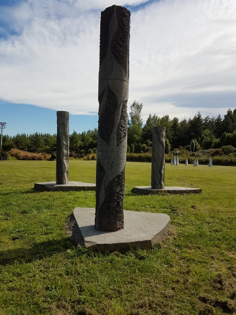 Sculptural installation for Doug Neil (sculpturer) at Tai Tapu sculpture park